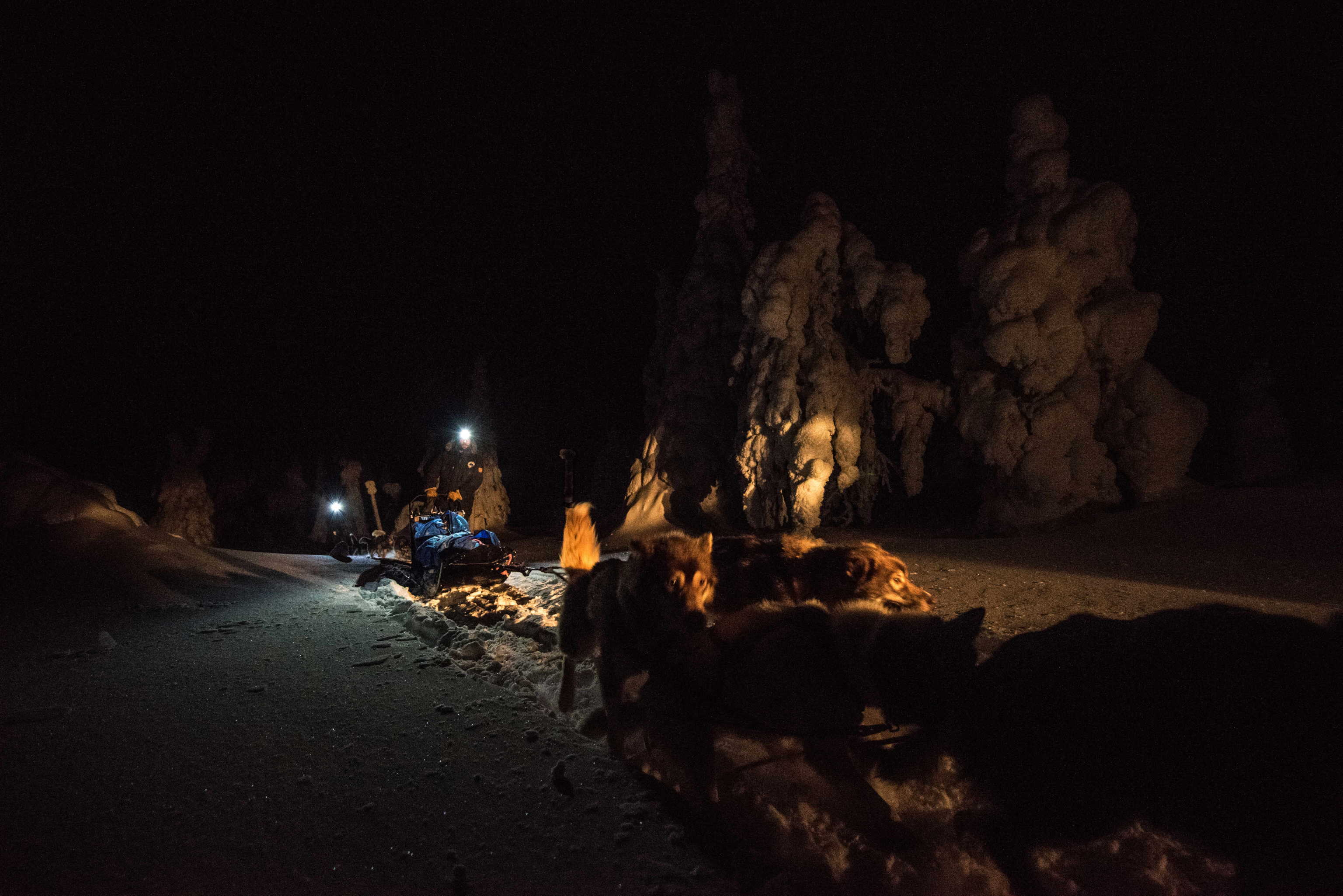 Descente nocturne à Iivaara