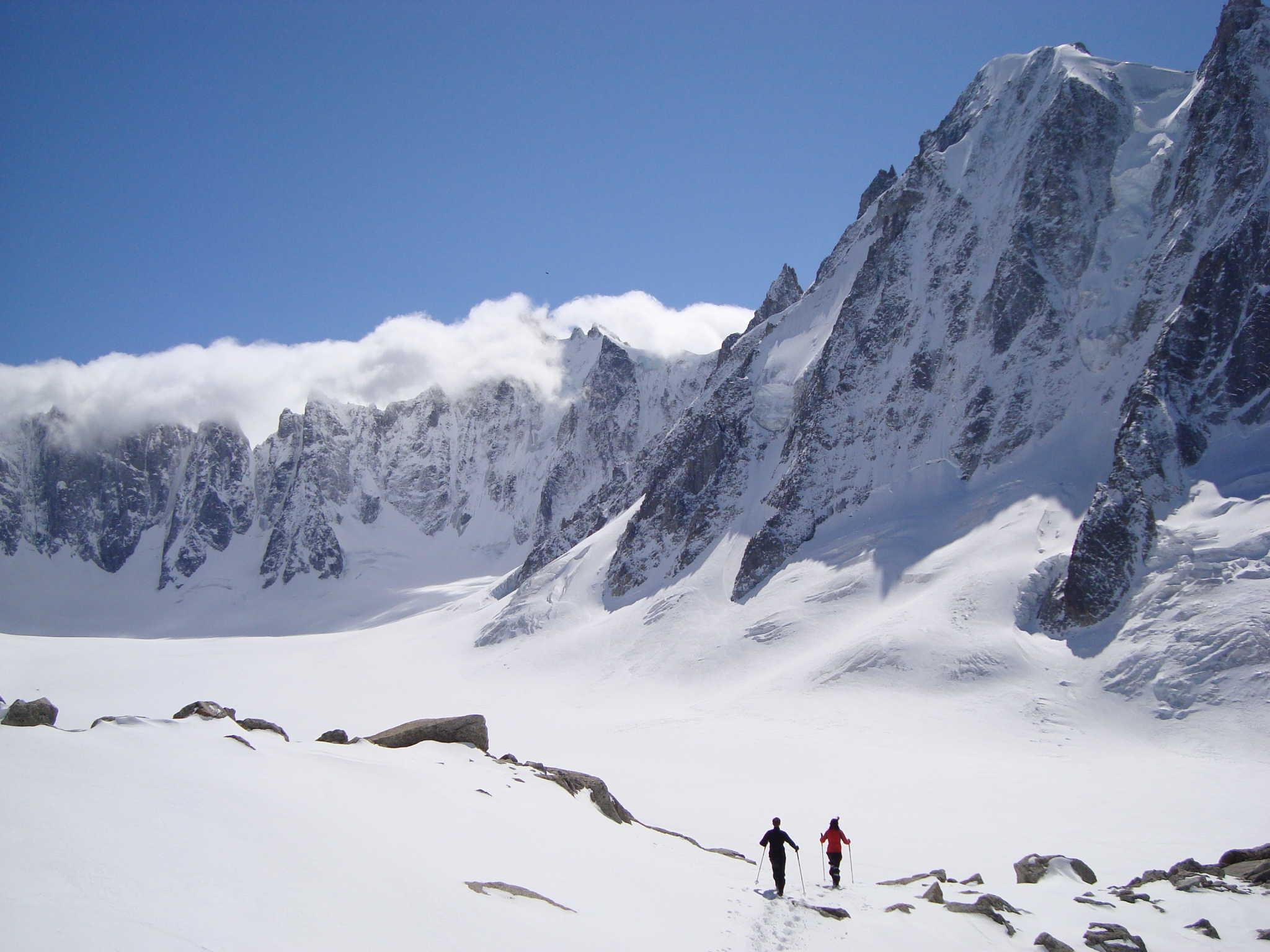 Glacier d'Argentière, face nord des courtes